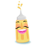 Mustard Sauce Mascot Stock Image