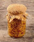 Mustard sauce seed Royalty Free Stock Images