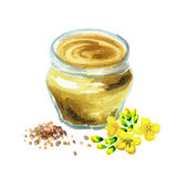 Mustard seasoning Stock Photo