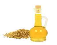 Mustard seed oil stock image