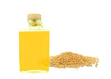 Mustard seed oil Royalty Free Stock Images