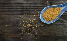 Mustard seeds spoon Royalty Free Stock Image