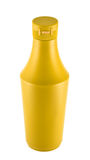Mustard souce platic bottle over white background Royalty Free Stock Photography