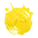 Mustard on white Stock Photos