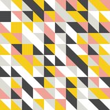 Mustard yellow and grey, pink, white background. Random colored abstract geometric mosaic pattern background. Abstract geometric background, random coloring stock illustration