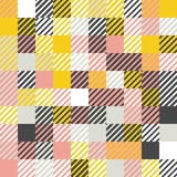 Mustard yellow and grey, pink, white background. Random colored abstract geometric mosaic pattern background. Abstract geometric background, random coloring Royalty Free Stock Images