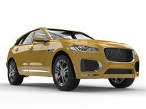 Mustard yellow modern SUV Stock Image