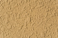Mustard yellow wall. Details of stained yellow wall Stock Images