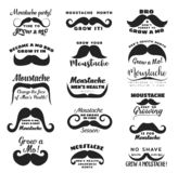 Mustasch eller mustasch Medvetenhet f?r prostatacancer vektor illustrationer