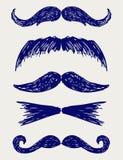 Mustaschen skissar Arkivbilder
