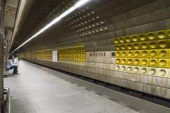 A metro station in Prague. The Mustek metro Station in Prague Stock Image