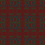 Muster-Abstraktionsgraphiken des grünen Blumendesignbrauns blaue Lizenzfreies Stockbild