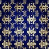 Muster auf Blau Stockfotografie
