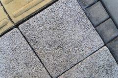Muster auf dem Fußweg, der Block pflastert Stockbilder