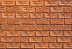 Muster auf der Backsteinmauer Lizenzfreies Stockfoto