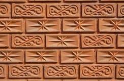 Muster auf der Backsteinmauer Lizenzfreie Stockfotos