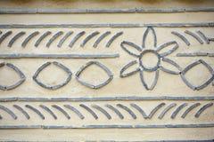 Muster auf der Wand Stockbild