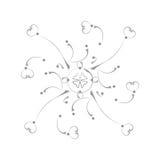 Muster auf einem weißen Hintergrund Stockfotos