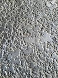Muster auf Gipswand Stockfoto