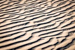 Muster auf roten Sanddünen Stockfoto