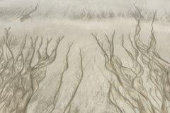 Muster auf Sand Stockbilder
