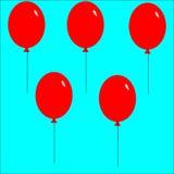Muster Ballons Lizenzfreie Stockfotografie