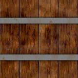Muster-Beschaffenheitshintergrund der hölzernen Planke des Plankenfasses hölzernen nahtloser mit zwei silbernen rostigen Metallbä lizenzfreie stockfotografie