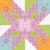 Muster-Beschaffenheitshintergrund des Patchworks nahtloser Retro- Lizenzfreies Stockbild
