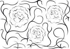 Muster, Blumen Lizenzfreie Stockfotos