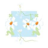 Muster-Blumenhintergrund lizenzfreie abbildung