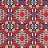 Muster bono rot-blauer Vektor Lizenzfreie Abbildung
