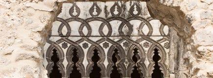 Muster, Dekoration auf einem Stein Verzierung, Hintergrund Stockfoto
