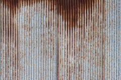 Muster der alten Blechtafel Rostige Metallblattbeschaffenheit Stockfoto