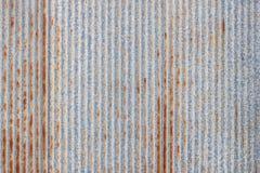Muster der alten Blechtafel Rostige Metallblattbeschaffenheit Lizenzfreie Stockfotos