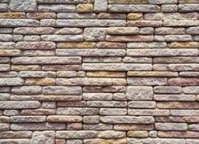 Muster der Backsteinmauerbeschaffenheit des dekorativen Steins Stockfoto