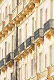 Muster der Balkone Lizenzfreies Stockfoto