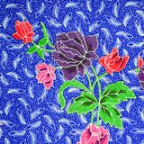 Muster der Blumenverzierung Stockfoto