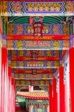 Muster der chinesischen Spalte und des Strahls Stockbilder
