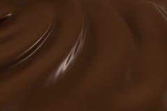 Muster der geschmolzenen Schokolade Lizenzfreies Stockbild