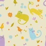 Muster der Kätzchen Lizenzfreies Stockfoto