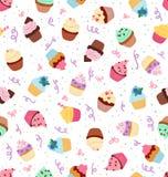 Muster der kleinen Kuchen Stockbilder