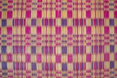 Muster der Matte in lokalem traditionellem Thailand Stockfotografie