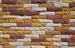 Muster der modernen SteinBacksteinmauer stockbild