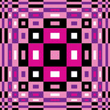 Muster der OPkunst Nahtlose geometrische Beschaffenheit Stockbilder
