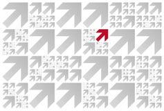 Muster der Pfeile Stockbild