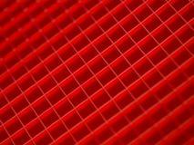 Muster der roten Quadrate Stockfotografie