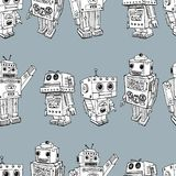 Muster der Spielzeugroboter Lizenzfreie Stockbilder