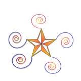 Muster der Spirale und der Sterne Lizenzfreies Stockbild