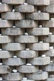 Muster der Steinwand mit weißem Felsen lizenzfreie stockfotos