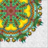 Muster in der ukrainischen orientalischen ethnischen Art Lizenzfreies Stockfoto